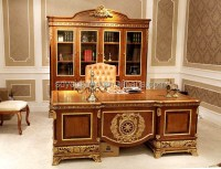 0062 Italy Latest Design Luxury Wood Study Table And Chair ...