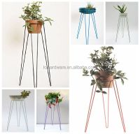 Colorful Metal Patio Hairpin Plant Stand Green - Buy Plant ...