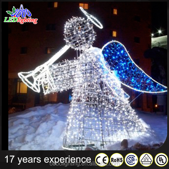 Outdoor Led Christmas Decoration Light 3d Motif Light Harp Angle - outdoor led christmas decorations
