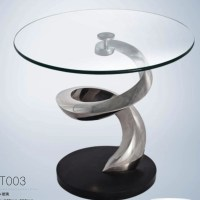 Side Table Rotating Glass Coffee Table For Home/hotel ...