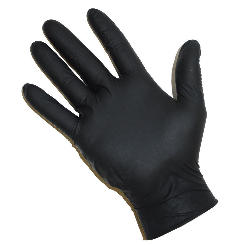 Cheap disposable powder free bulk medical use black nitrile exam gloves malaysia
