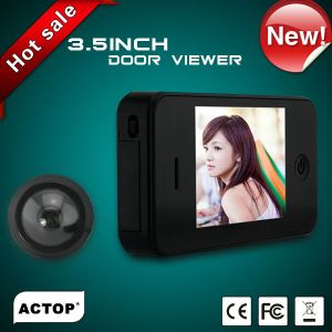 3.5inch TFT clear display rechargeable video peephole door camera with Li-on battery,long power lasting,shenzhen factory