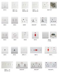 British Type Wall Light Switch Mk Socket And Switches ...