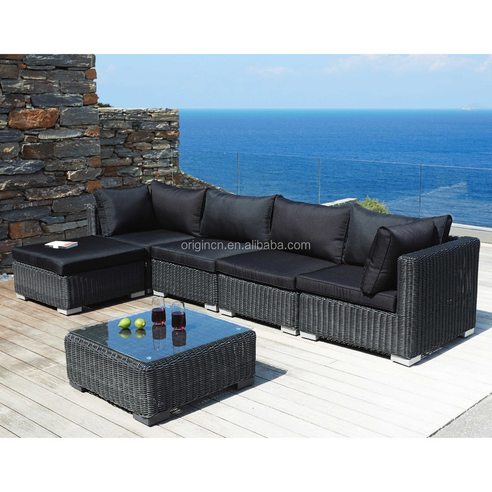 Rattan Sofa Corner Set Black Sumptuous Designs 4 Seater Outdoor Balcony Corner Sofa Set With Ottoman Rattan Pakistan Cane Furniture Buy Pakistan Cane Furniture Corner Sofa