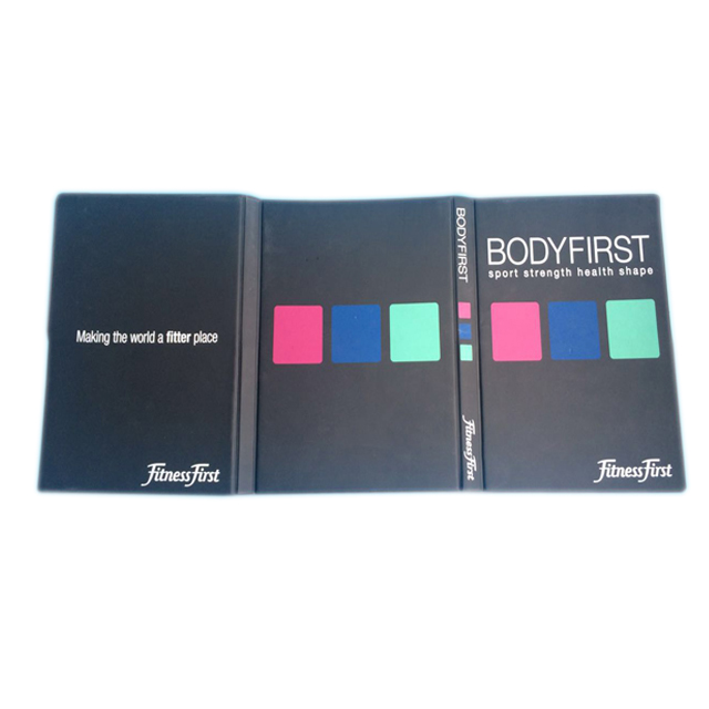 A5 Hard Cover Tri Folder Vinyl Booklet With Plastic Pockets - Buy