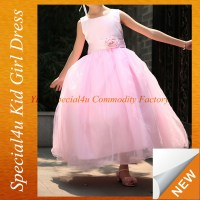 Girls Pink Long Dress 10 Year Old Bridesmaid Dresses Sfubd