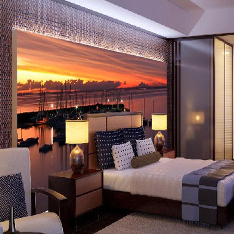 Best 3d Wallpapers For Living Room Soggiorno Corridoio Parete 3d Caldo Tramonto Paesaggio