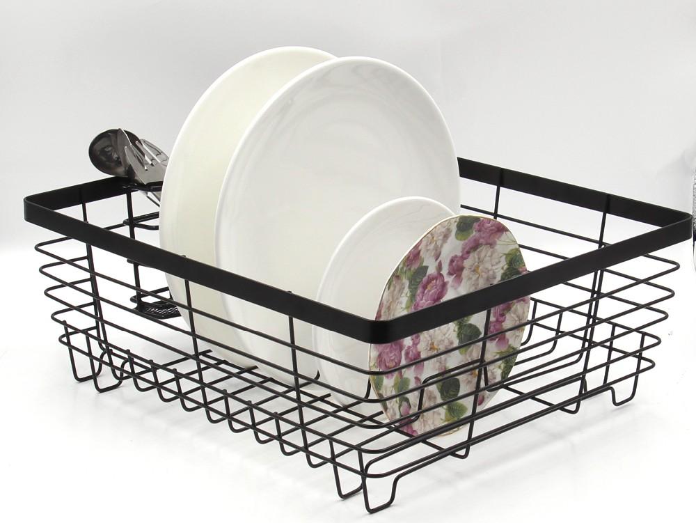 Kitchen Accessories Corner Metal Wire Square Draining Dish
