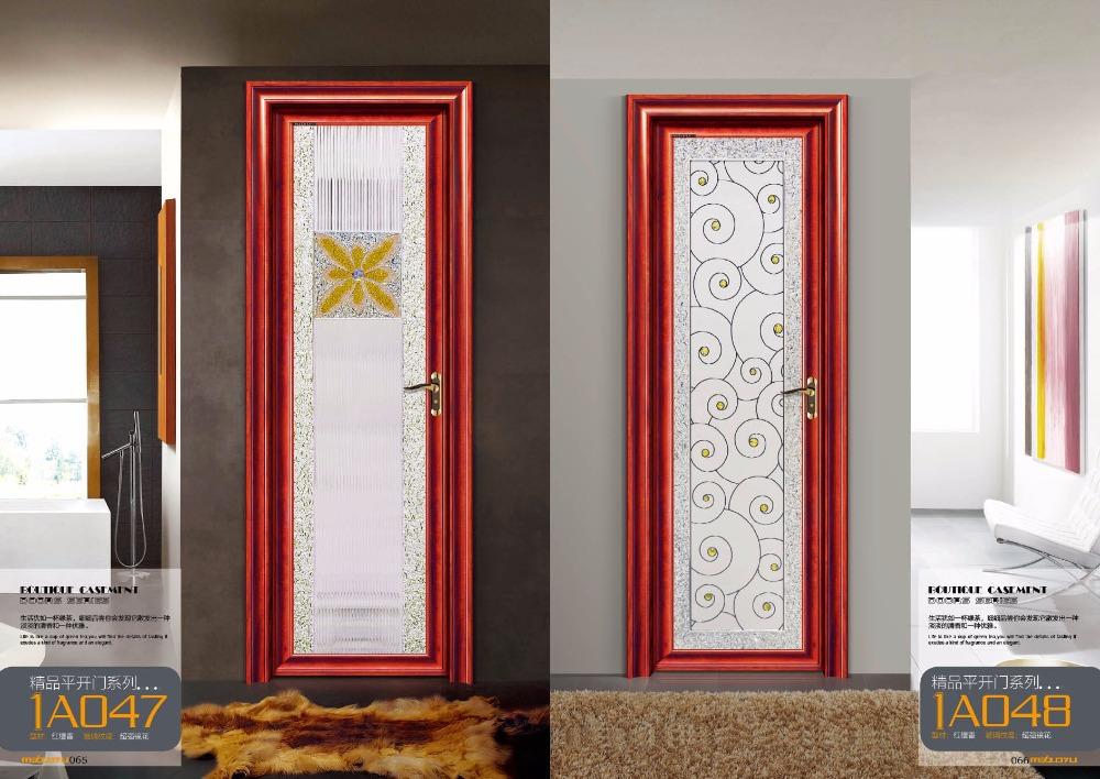 Interior Aluminum Glass Bathroom Door Design