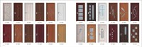 Teak Wood Door Design Pvc Coating Surface Finished