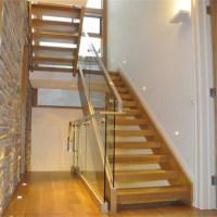 Modern design single stringer straight steel staircase ...