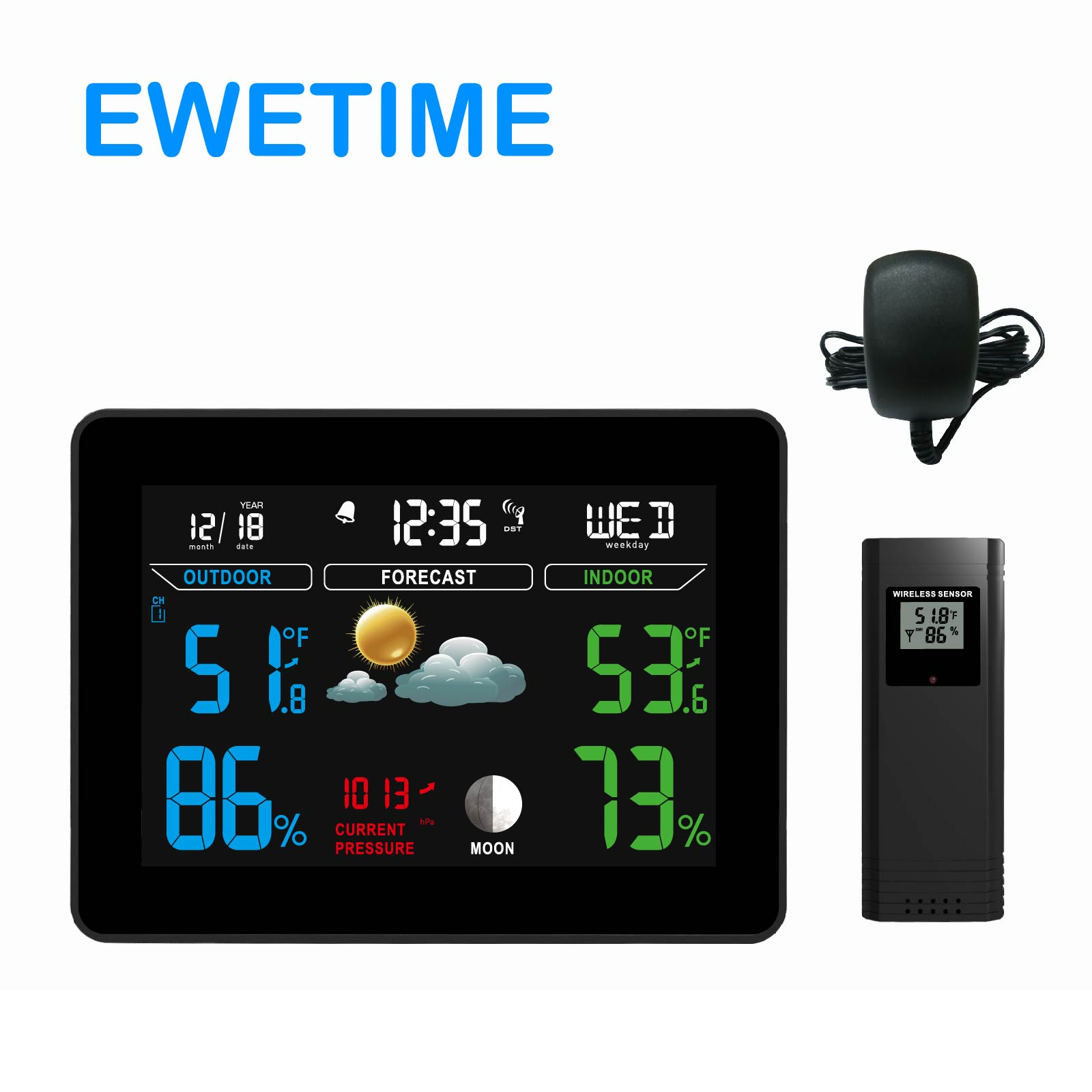 Standuhr Digital Digital Weather Station With Color Lcd Display Buy Weather