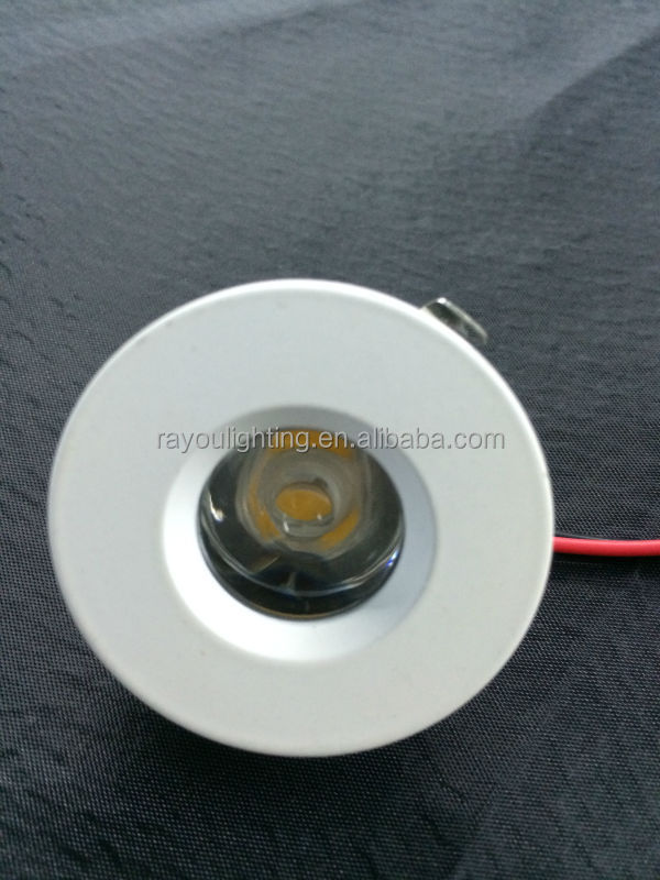Led Recessed Lighting Dimmable White Round 1w Led Spot 12v,1 Watt Recessed Led Mini