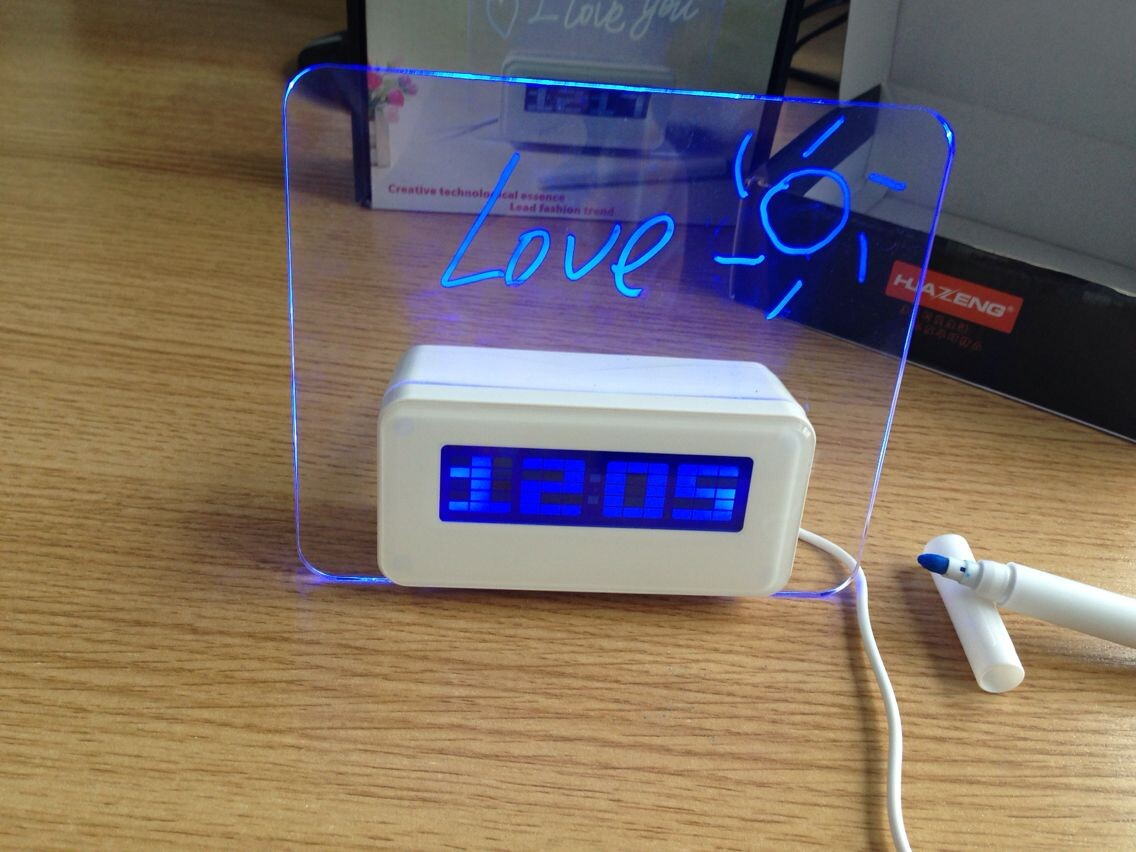 Pretty Digital Clock Led Desk Digital Alarm Clock With Memo Board Buy Memo