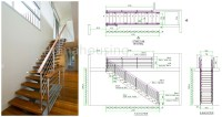 Modern Solid Wood Stairs Design With Timber Wood Handrail ...