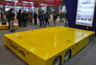 large cargo unmanned vehicle electric tansfer flat car better than truck