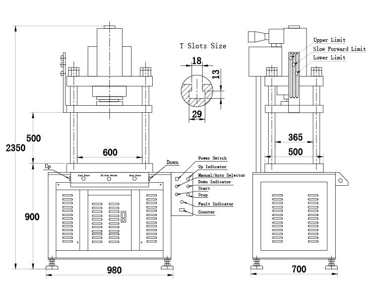 July Quality Handmade Hydraulic Press 80 Ton For Aluminium Profile
