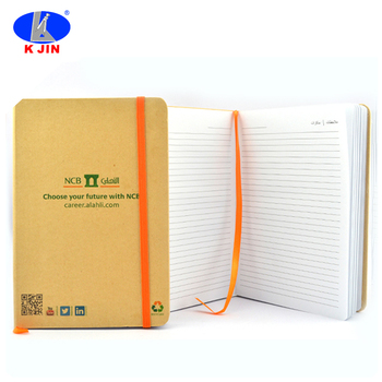 Kraft Cover A5 Eco Friendly Notebook Paper Printable With Silk