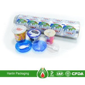 Aluminum foil lid induction seal liner for food packaging