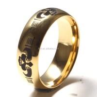 Custom Unique Tungsten Wedding Bands Gold Plated Tungsten ...