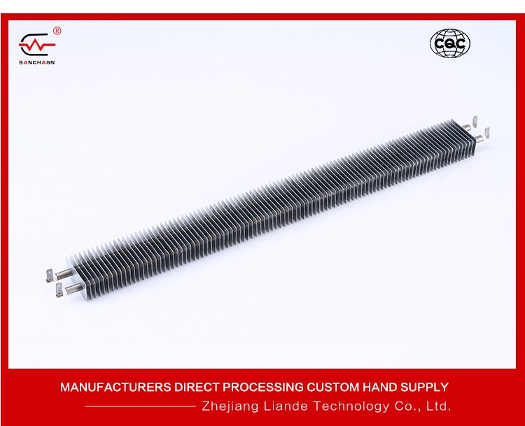 Energy Efficient Finned Heating Element Square Fin