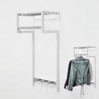 Wall Mounted Metal 4 Hangers Foldable Coat Rack - Buy ...