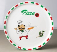 Round Porcelain Plate,Pizza Plate,Ceramic Pie Plate - Buy ...