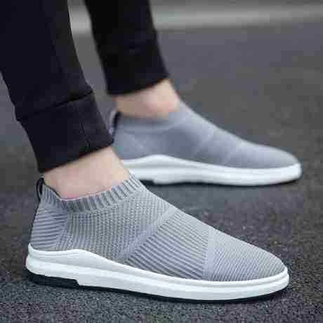 Source New flying socks men's shoes trend sets of casual shoes spring and summer breathable sports shoes men