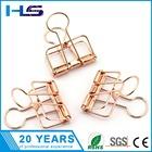 Rose Gold Medium Metal Wire Paper Binder Clips