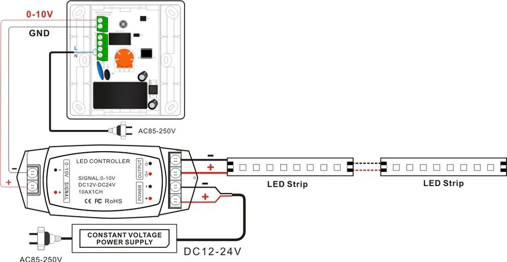 wiring a fluorescent dimmer switch