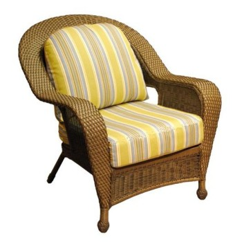 Yellow Decorative Rattan Chair Cushions Replacement Indoor