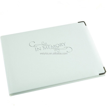 Leather Funeral Guest Book Memorial Book Condolence Books - Buy