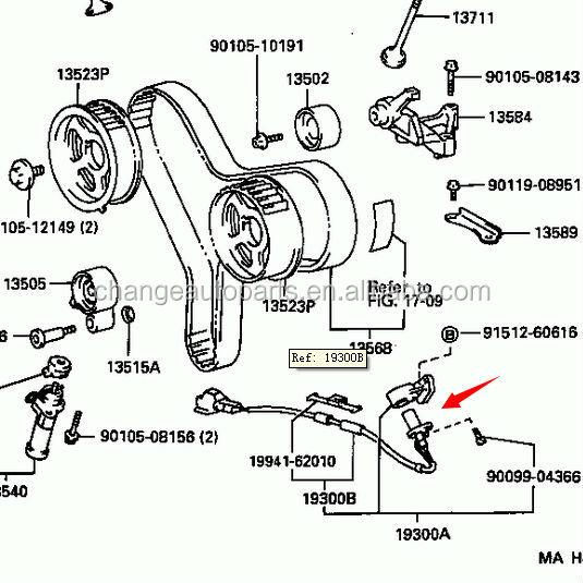 toyota echo engine parts diagram