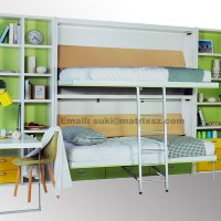 Murphy bed folding wall bed,wall mounted bed with bunk bed ...