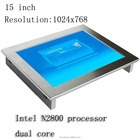 15 inch all in one computer support wireless 3G & Wifi modem Fanless touch screen industrial panel PC