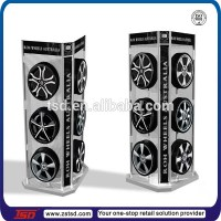Tsd-m707 4s Store 4-side Freestanding Tyre Display Rack ...