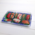 Sushi Container KW1-1109GA Small Food Container With Lid For Sushi Plastic Sushi Tray