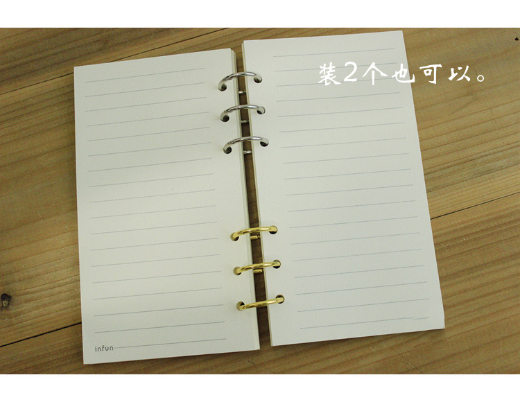 A5 A6 3 Ring Loose Leaf Binder Spiral Notebook Metal Clip Ring - notebook binder