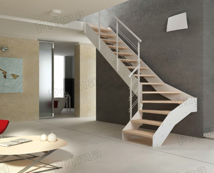 Indoor Stainless Steel Glass Staircase Design With Rubber