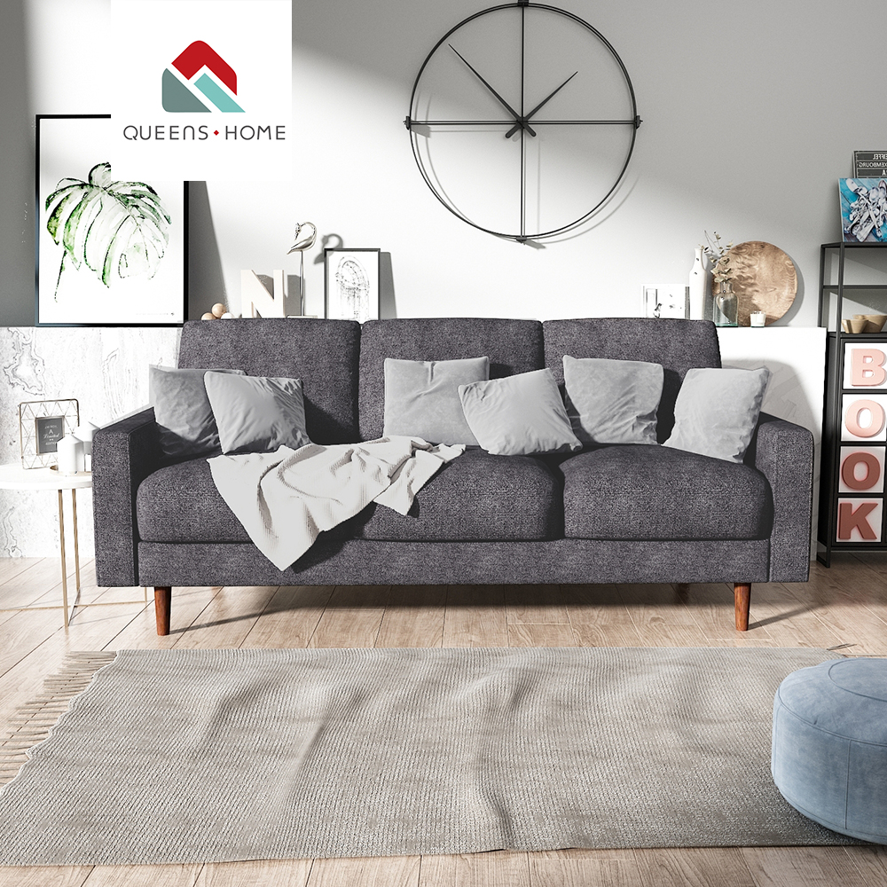 Uk Sofa Wholesale Ltd Queenshome Black Sofa And Loveseat Sectionals For Sale House Furniture Home Modern Small Grey Suede Couch Three Seater Kd Sofa