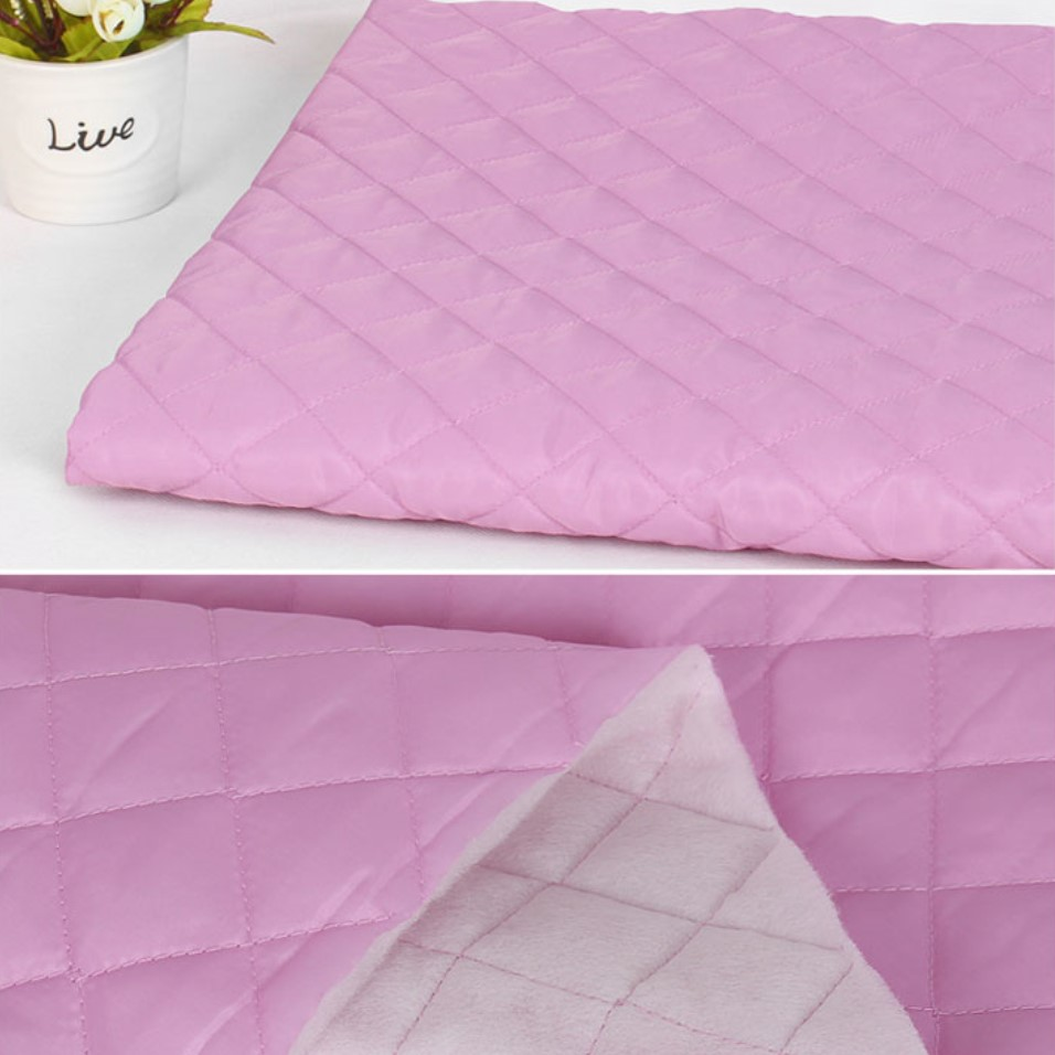 Quilted Fabric Single Sided Pre Quilted Fabric