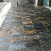 multicolor slate floor tile,paving stone for interior and ...