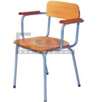 Well Design Wooden Chairs With Arms Of School Classroom ...