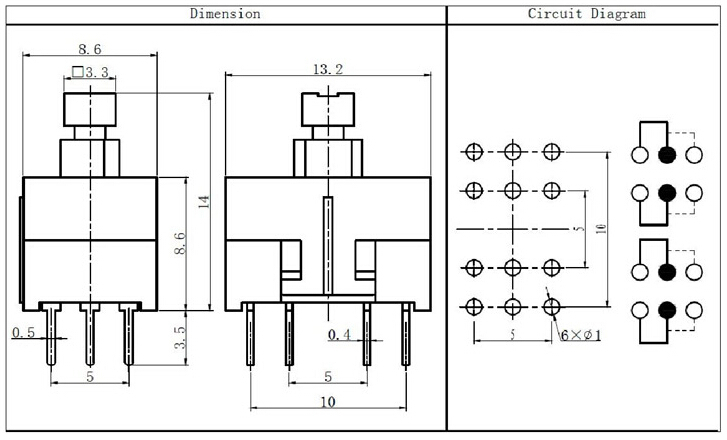 pushbutton relay selector