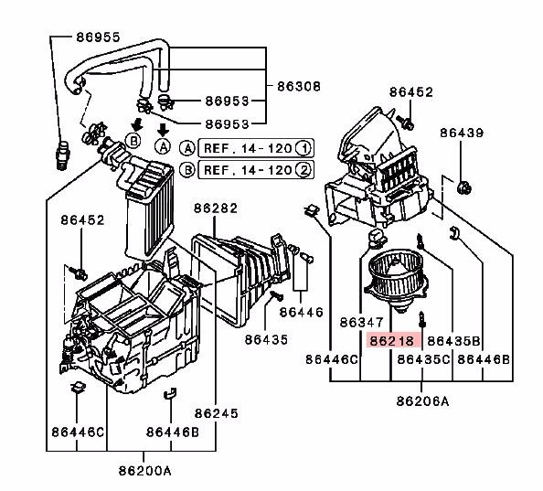 diagram motor fan mitsubishi