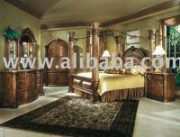 """Aico """"monte Carlo """" King Poster Canopy Bedroom - Pecan ..."""