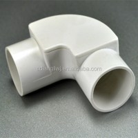 Pvc Pipe Accessories Angle Bend With Cover