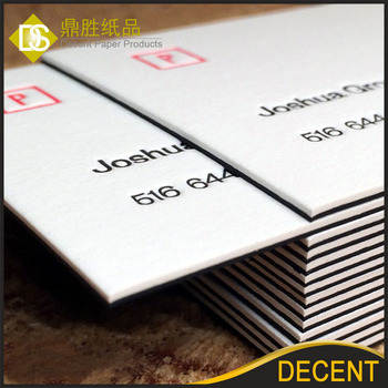 600 Gsm Black And White Coated Heavy Stock Thick Paper Business