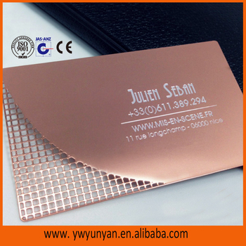 Gold Stainless Steel Metal Business Cards/metal Visiting Cards - Buy