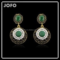 New Style Bohemia Fashion Drop Long Earring Clear&green ...